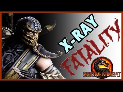 Mortal Kombat 9 Komplete Edition ( PS3 ) : Scorpion ( Fatalities + X-RAY ) в хорошем качестве как в мпортал комбат делать оентген